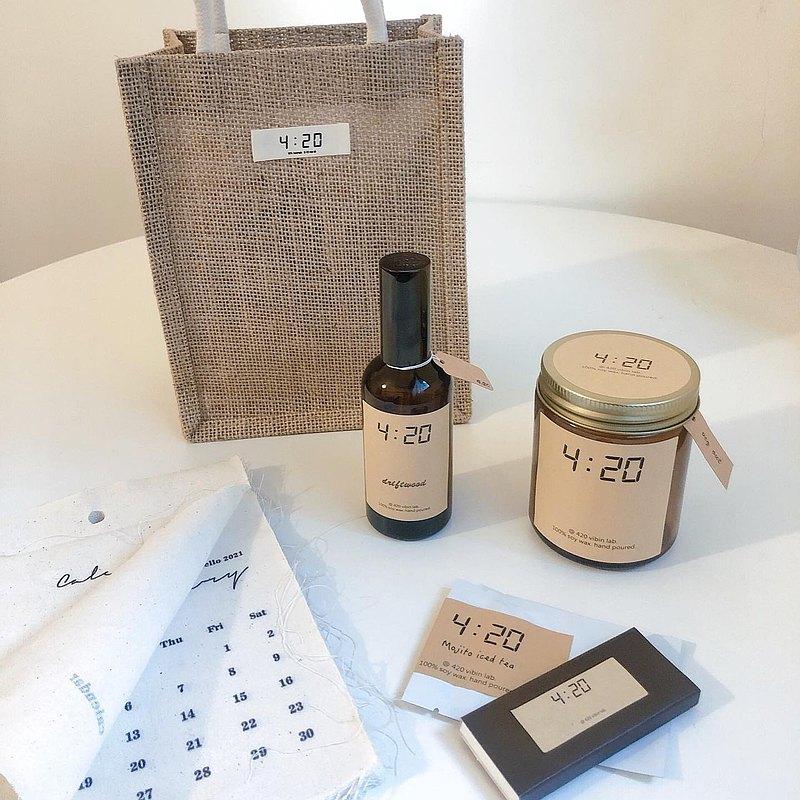 四點二十實驗室 極簡  環保天然大豆蠟燭擴香瓶香氛系列新春福袋