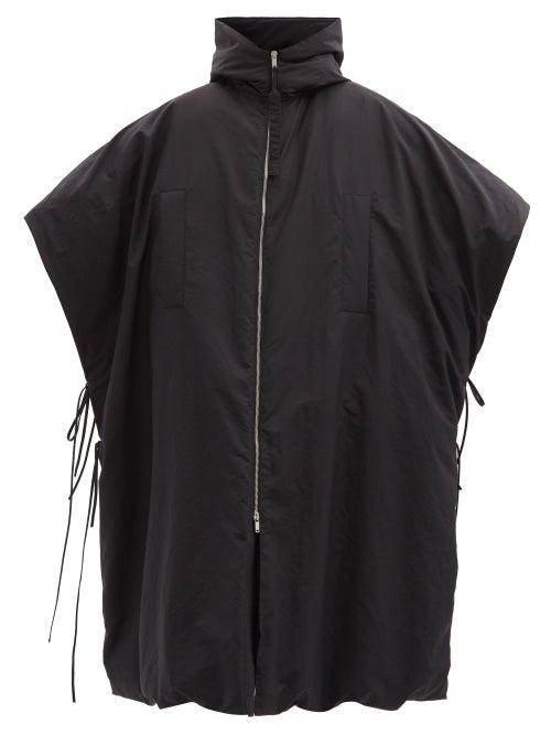 Jil Sander - Hooded Water-repellent Down Poncho Coat - Womens - Black