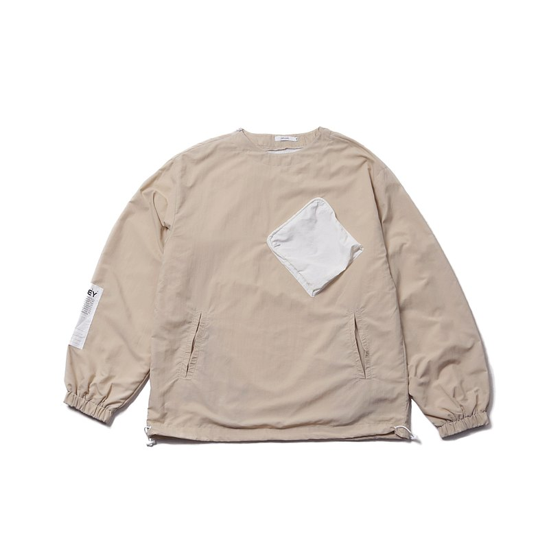 【ionism】低領罩衫沙色