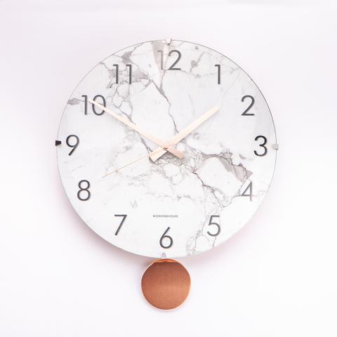 大理石玫瑰金時尚擺鐘