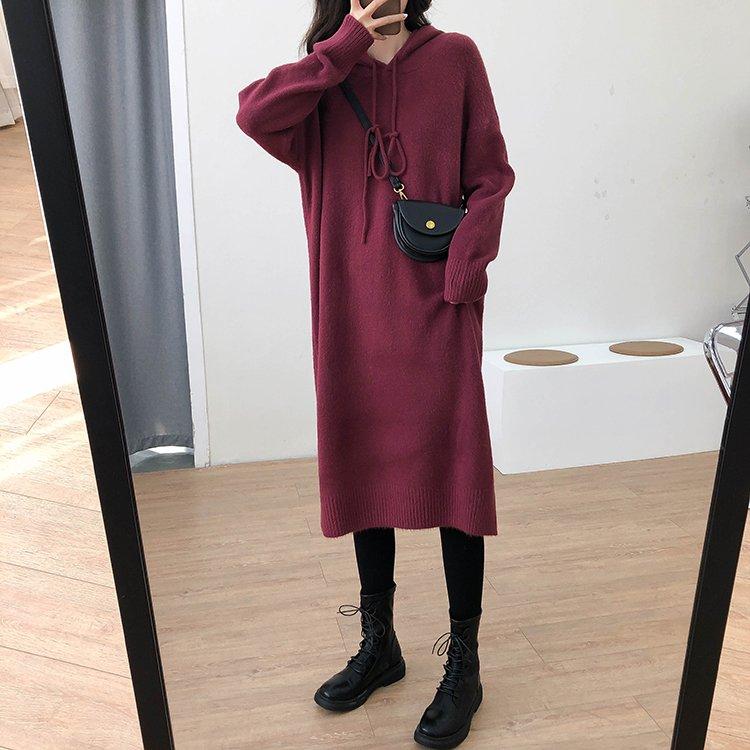 【missy shop】溫順休閒並行連帽裙-6747943
