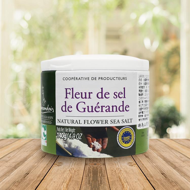 【勝崎-599免運】法國葛宏德天然鹽之花1罐組(140公克/1罐)
