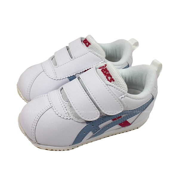 (C1) ASICS 亞瑟士 CORSAIR BABY SL 2 幼童 學步鞋 布鞋 1144A210-100 淺藍X淺紅 [陽光樂活]