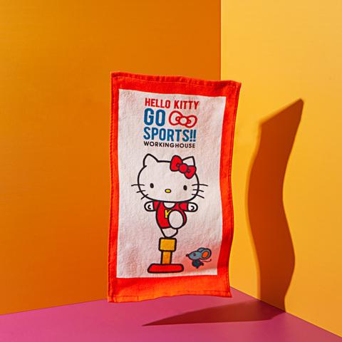 【限量】Hello kitty 愛運動-體操童巾