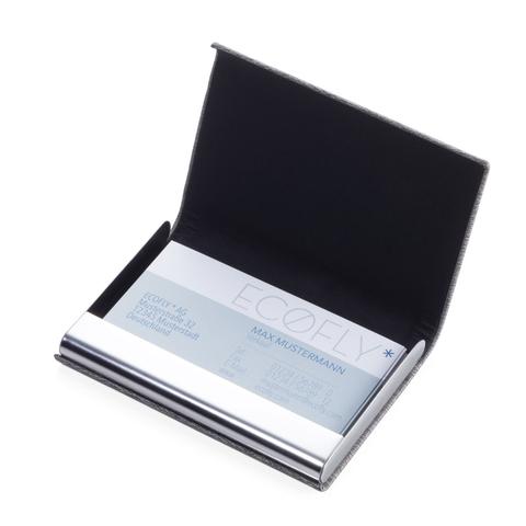 *金屬皮革RFID卡夾(黑色)
