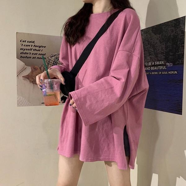 9th street 早春韓版開叉顯瘦上衣(共三色) (現貨)