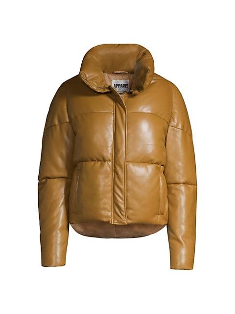Jemma Leather-Look Puffer Jacket