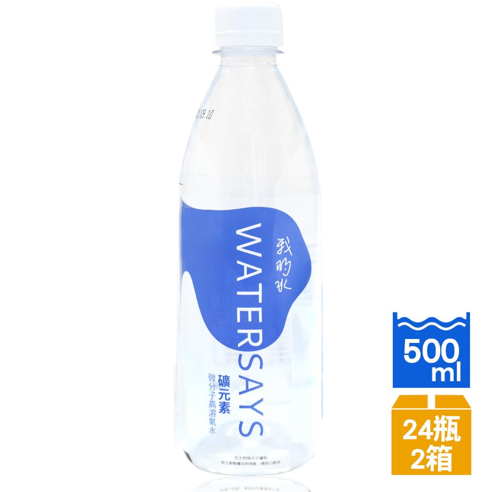 我的水 礦元素微分子高溶氧水飲用水500ml(24瓶/箱)x2箱