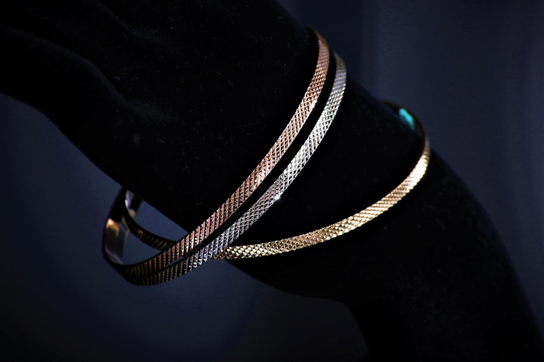三色薔薇系列 JOSEPHINE 約瑟芬女神 三色金編織 時尚簡約 個性手環