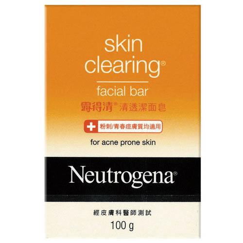 Neutrogena露得清清透潔面皂100g【康是美】
