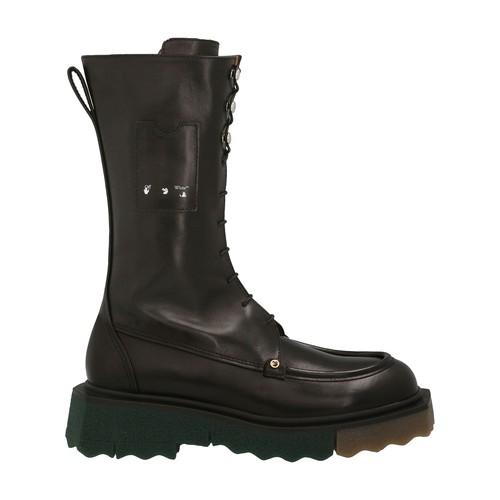 Sponge Combat lace-up boots