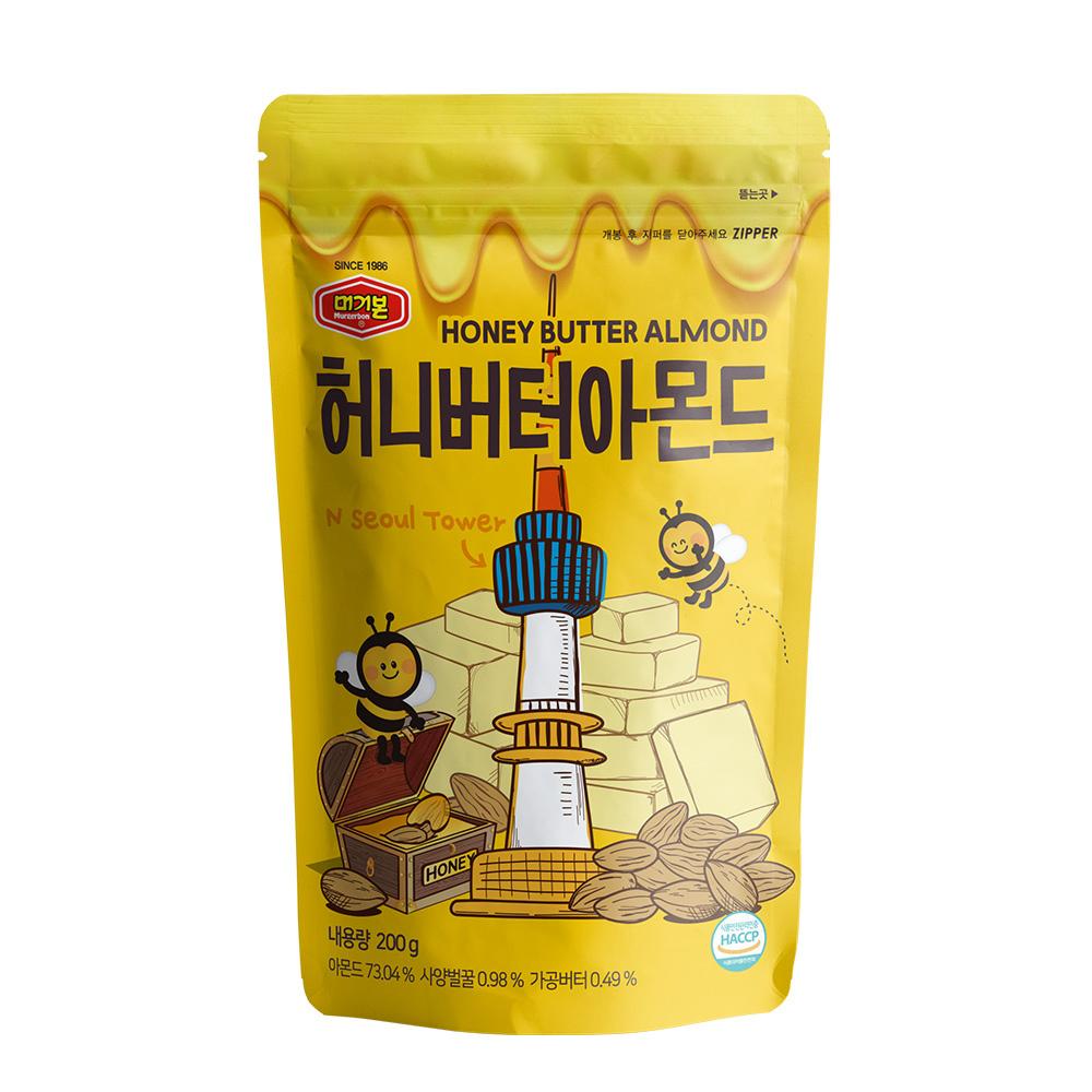 韓國正宗Murgerbon蜂蜜奶油風味-杏仁果200g 【康是美】