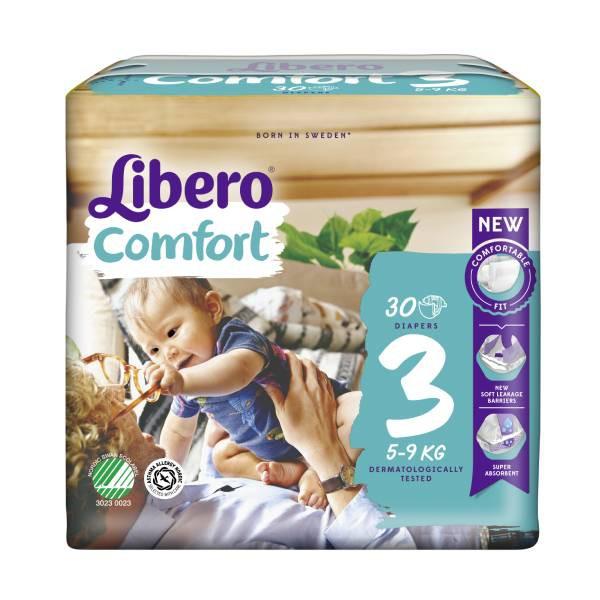 麗貝樂嬰兒紙尿褲/尿布3號Comfort 30片x6包/箱(11.1/片)