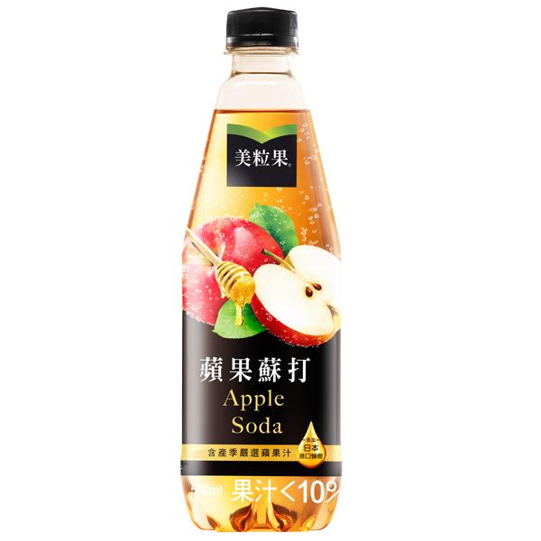 美粒果蘋果蘇打500ml *團購*24入【康是美】