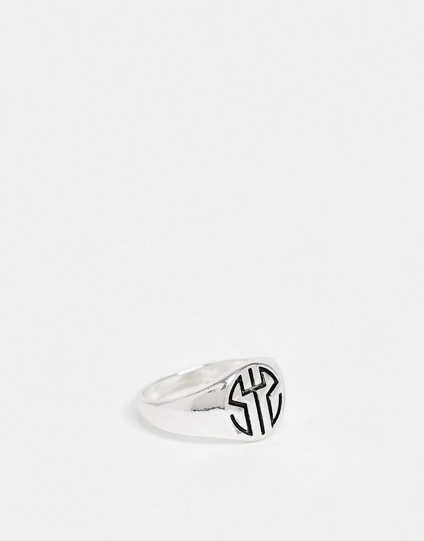 Status Syndicate round signet ring-Silver