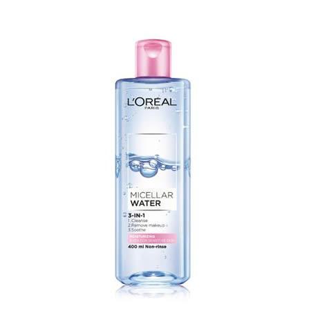 巴黎萊雅3合1卸妝潔顏水保濕型400ml
