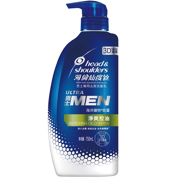 海倫仙度絲男士專用去屑洗髮乳(淨爽控油)750ml【康是美】