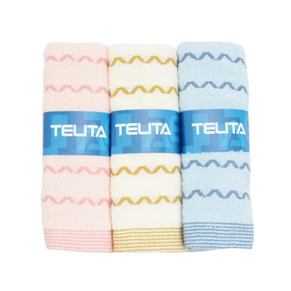 TELITA  V字緞條毛巾3入【康是美】