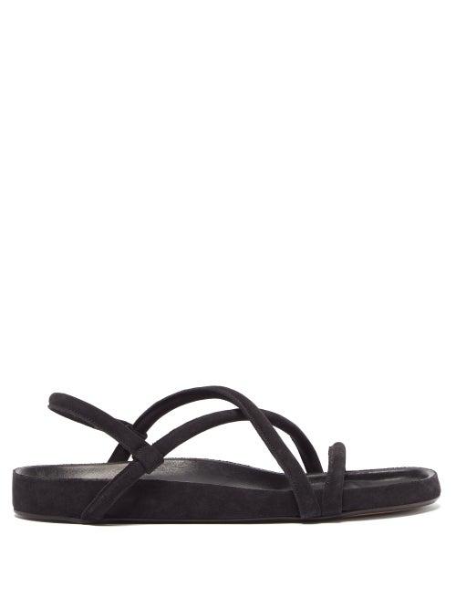 Isabel Marant - Erkah Cross-strap Suede Sandals - Mens - Black