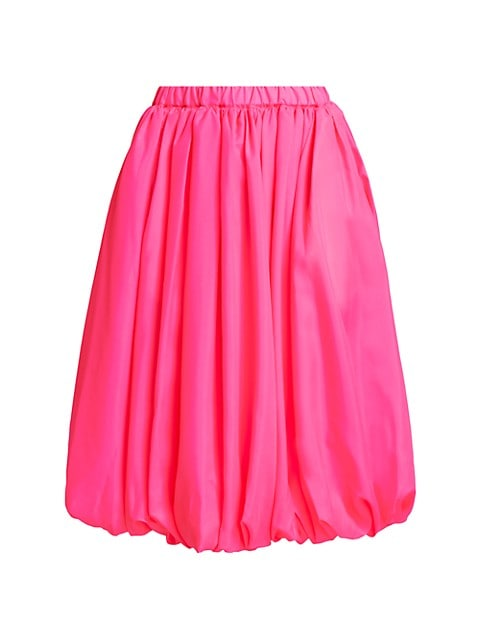 Bubble-Hem Midi Skirt