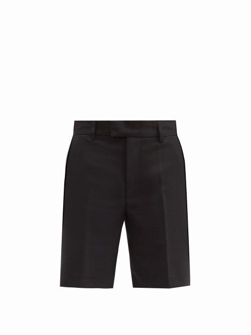 Séfr - Sven Tailored Twill Shorts - Mens - Black