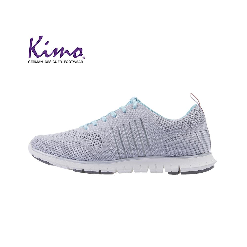 Kimo輕旅行彈力針織運動風平底休閒鞋 女鞋(灰KAISF081152)
