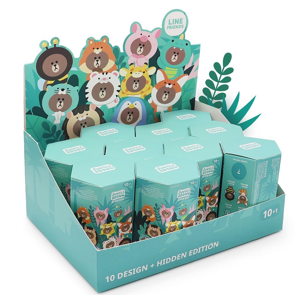 叢林 熊大&莎莉 盒玩公仔(套組10盒)