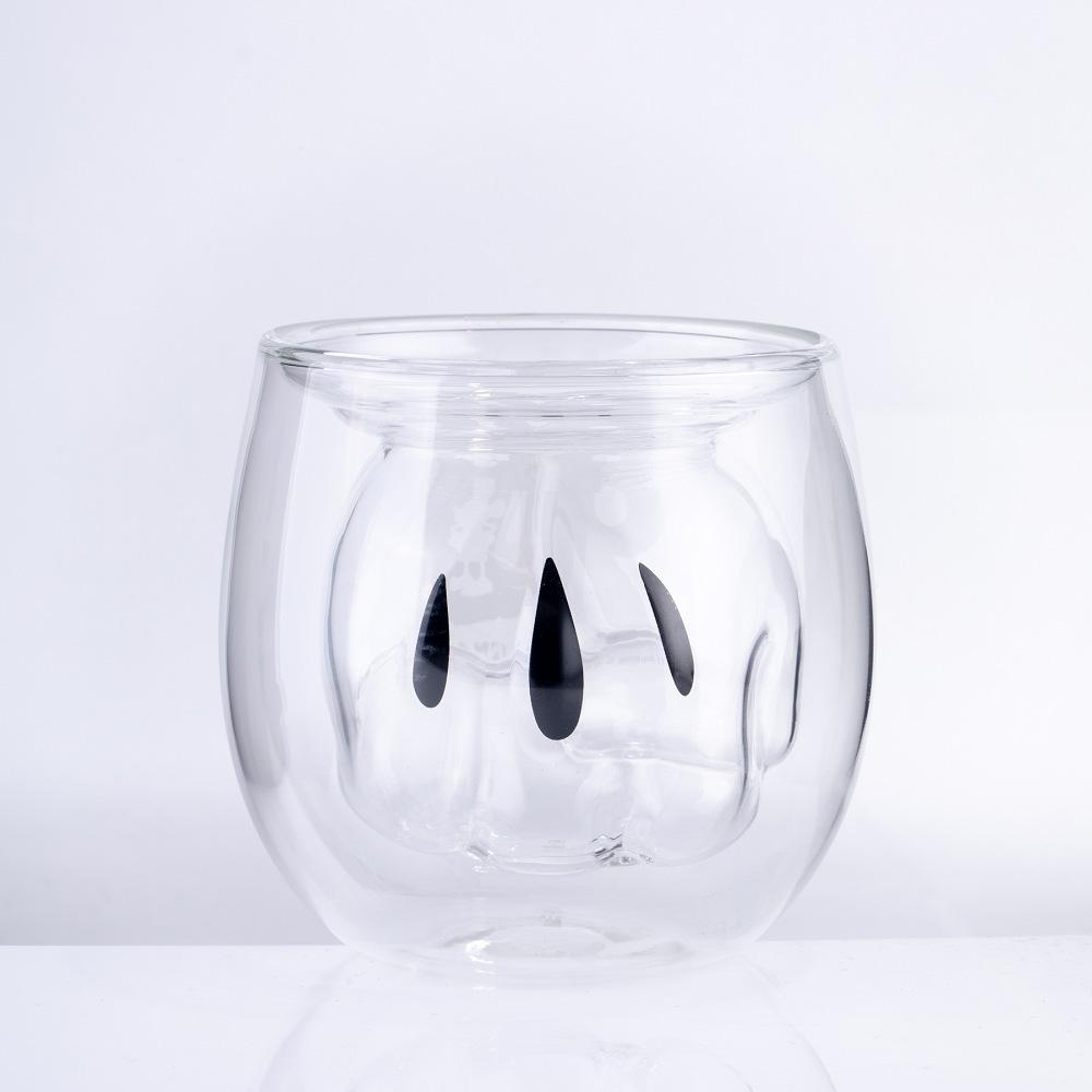 經典米奇系列 雙層玻璃杯 米奇手套款