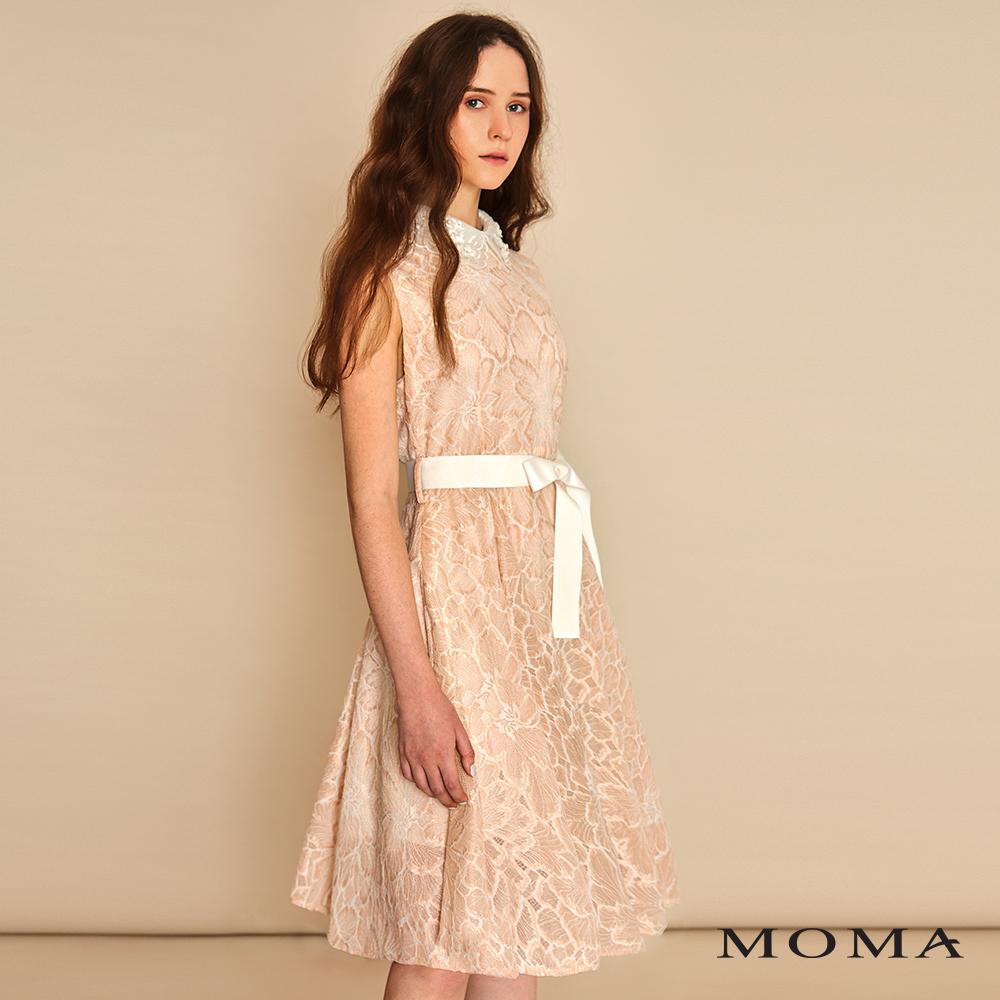 MOMA(01D045)花飾領蕾絲洋裝
