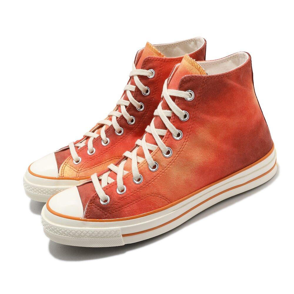 CONVERSE 休閒鞋 All Star 高筒 穿搭 男女鞋 基本款 麂皮 質感 三星標 情侶鞋 橘 紅 [170590C]