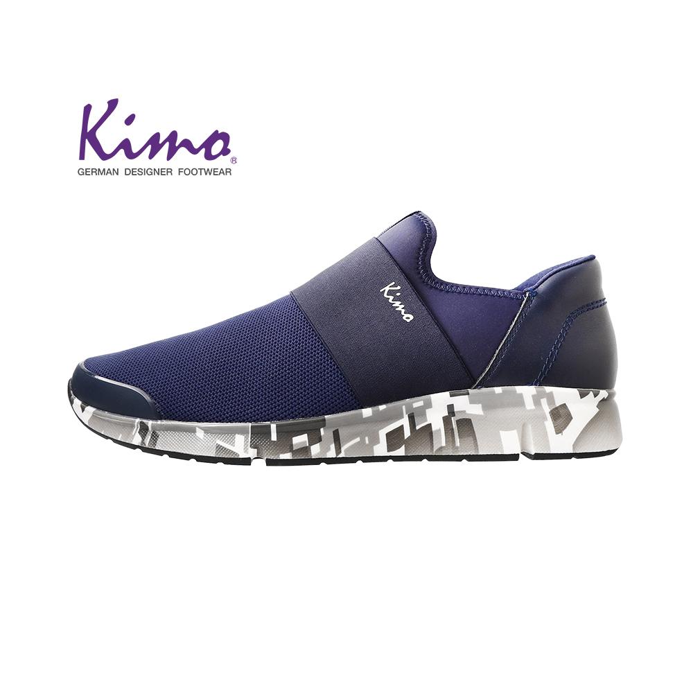 Kimo型男針織輕質休閒鞋 男鞋(藍K18WM019046)