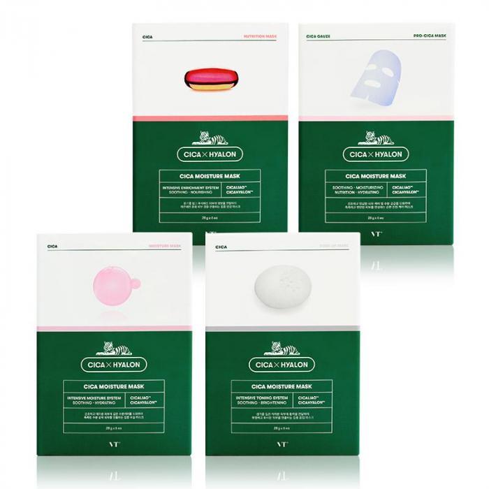 韓國 VT CICA 老虎保濕面膜(6片/盒) (多款任選)