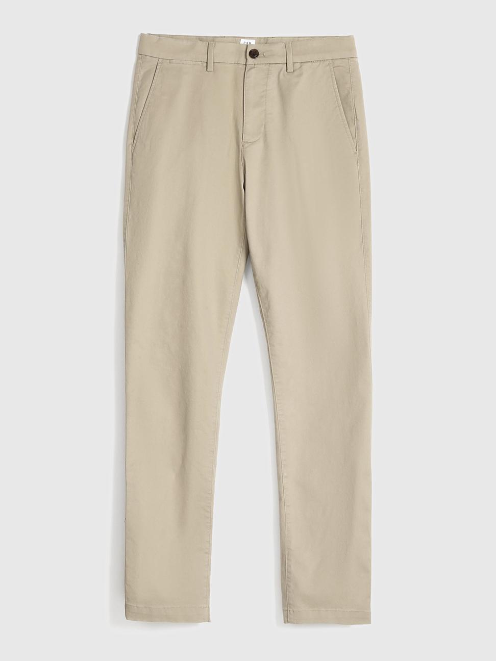 男裝 棉質微彈直筒型休閒褲
