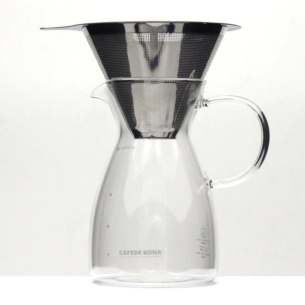 CAFEDE KONA 雙層不鏽鋼濾網01+咖啡分享壺