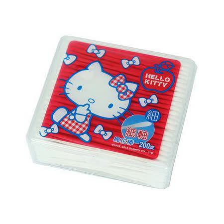 Kitty細紙軸棉花棒200支盒裝