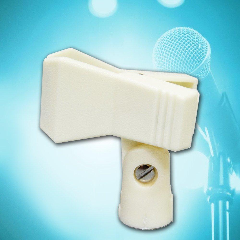 【美佳音樂】HD-20W 有線/無線通用 台灣製造 麥克風夾頭-白色1入