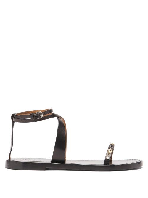 Isabel Marant - Jothee Studded Wraparound Leather Sandals - Womens - Black