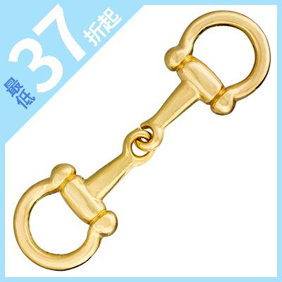 IVAN 12mm造型固定式馬銜/金色16152-19