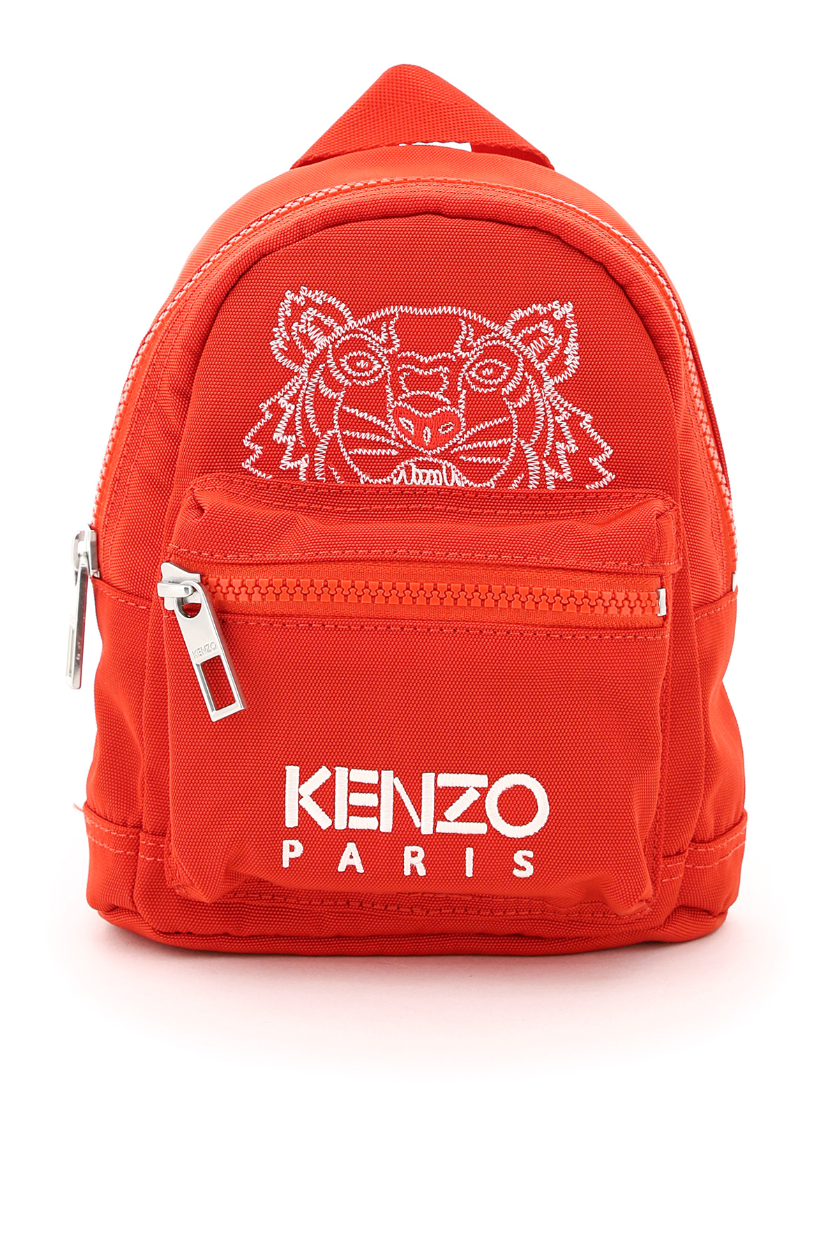 KENZO MINI BACKPACK WITH TIGER EMBROIDERY OS Red, White Technical