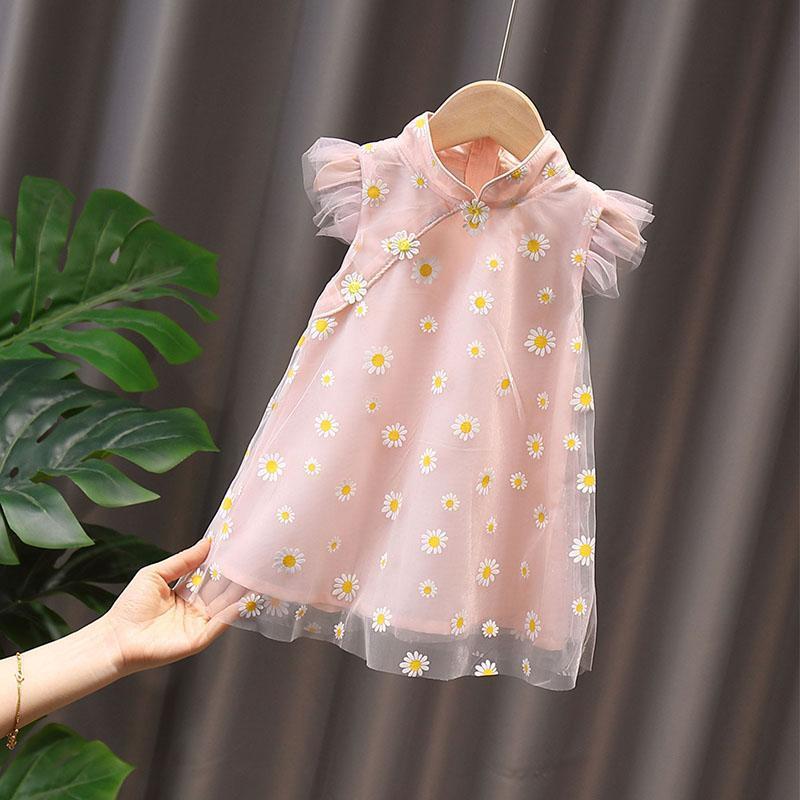 童裝 女童 夏裝連衣裙 2020新款 兒童旗袍裙 公主裙洋氣夏季女寶寶裙子