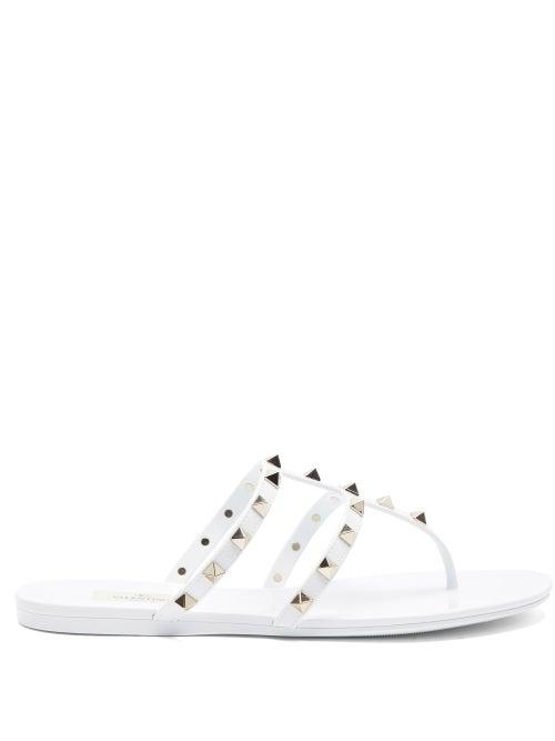 Valentino Garavani - Rockstud Pvc Jelly Slides - Womens - White