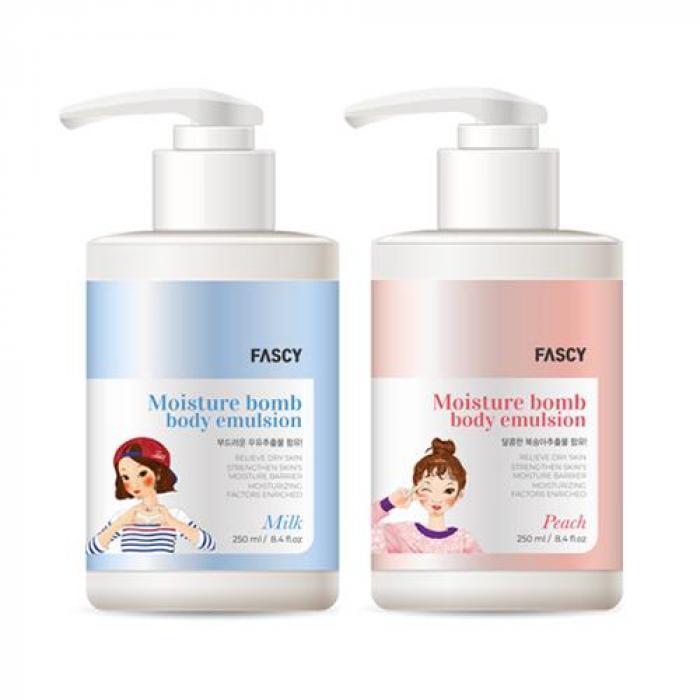 韓國FASCY 水感滋潤身體乳 250ml 蜜桃/牛奶 (兩款任選)