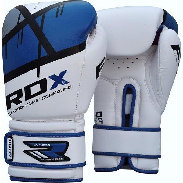 『VENUM旗艦館』RDX 英國 BGR-F7U QUADRO-DOME 拳擊手套 藍 白 尺碼 12oz