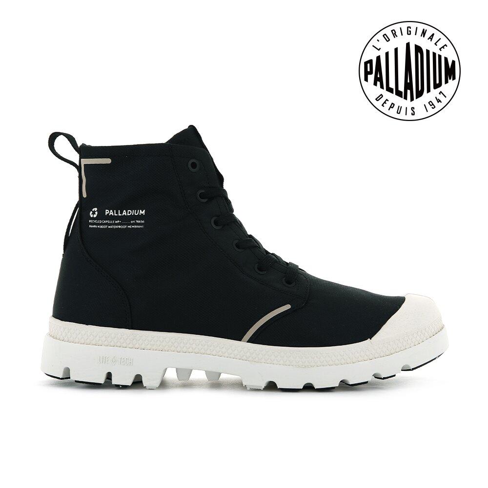 PALLADIUM PAMPA LITE+ RCYCL WP+再生纖維輕量防水靴-中性-黑/白