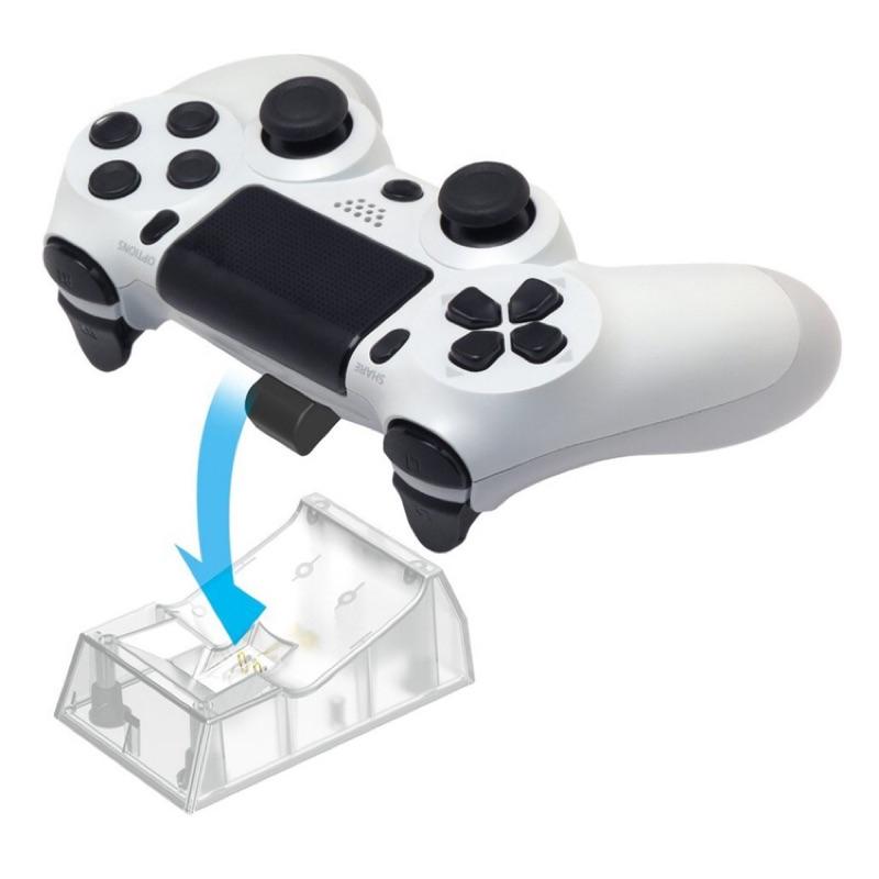 PS4 DS4 專用 日本HORI 無接點式 單手把充電收納座 AC 充電座 PS4-057 白色款【魔力電玩】