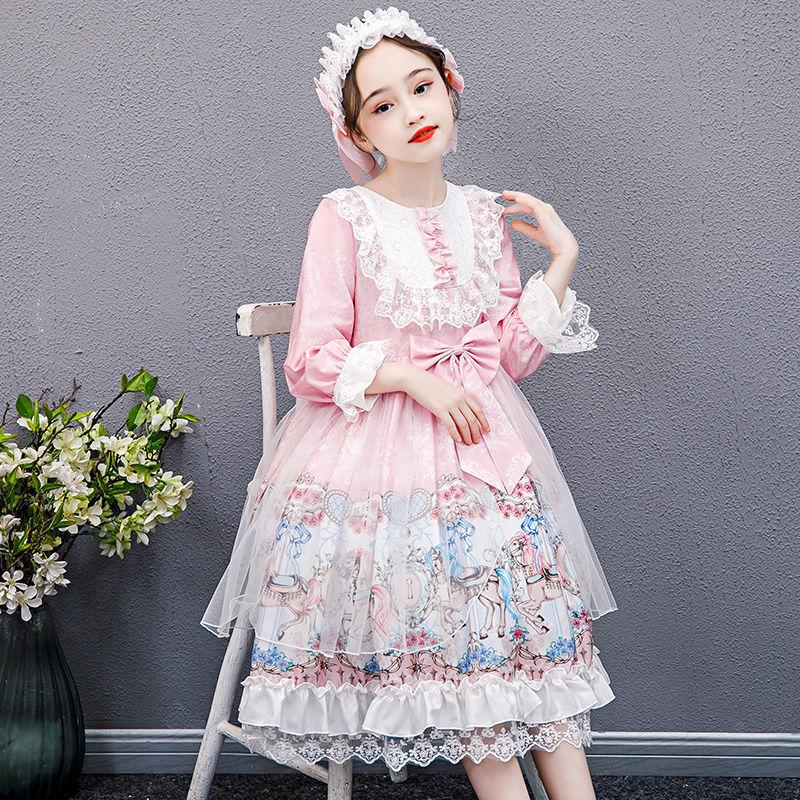 推薦熱銷爆款‼️現貨女童連衣裙秋冬加絨童裝洛麗塔裙子加厚新品童裝l洋裝學生公主裙