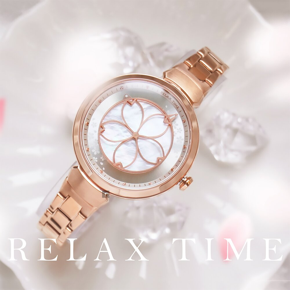 RELAX TIME 年度設計錶款 綻放系列 櫻花手錶(RT-72-3)