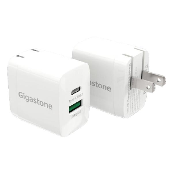 Gigastone PD-6180W 雙孔急速快充18W 充電器 Type-C PD3.0 + USB QC3.0