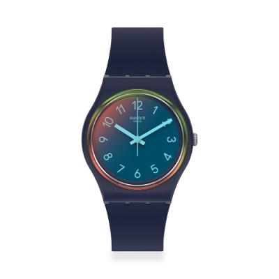 SWATCH Gent 原創系列手錶LA NIGHT BLUE 湛藍夜空(34mm)