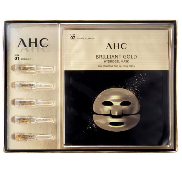 任2件5折*AHC 黃金蠶絲蛋白安瓶面膜5入 【康是美】